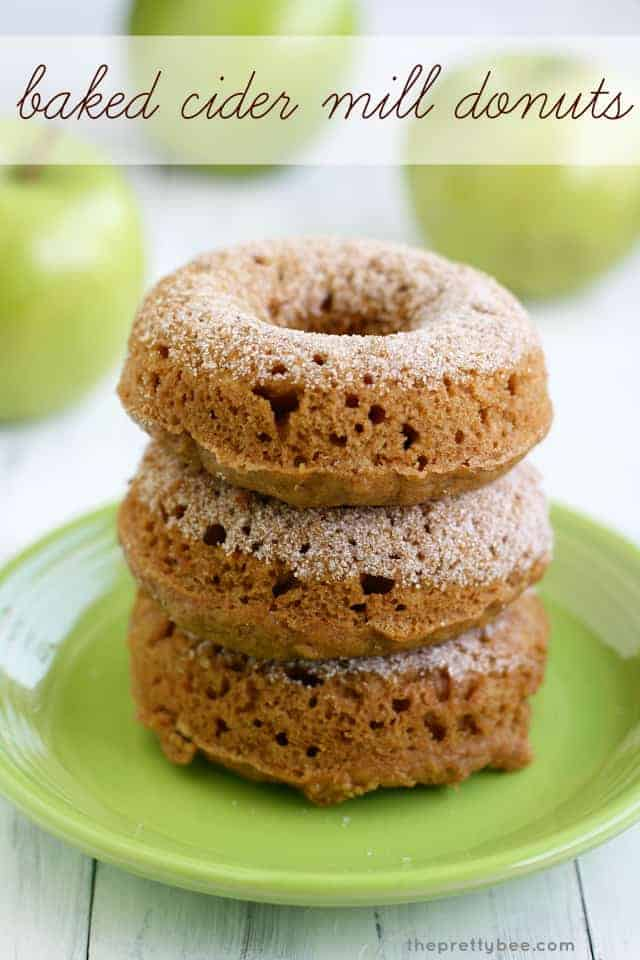 An unbelievably easy recipe for baked cider mill donuts. #donuts
