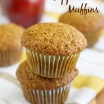 Easy vegan applesauce muffin recipe. A perfectly moist and tender muffin recipe.