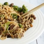 Delicious beef and broccoli teriyaki noodle bowls made gluten free!