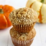Pumpkin muffins with streusel topping. #vegan