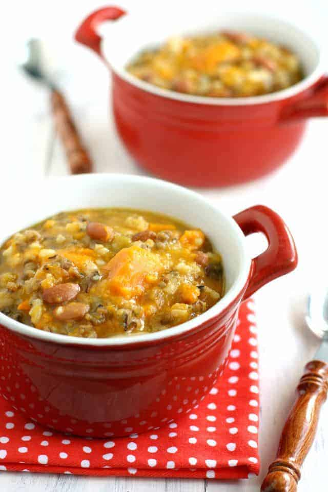 slow cooker sweet potato wild rice soup