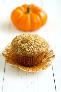 Vegan Pumpkin Muffins with Streusel Topping.