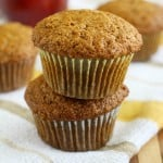 Vegan Applesauce Muffins.