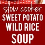easy slow cooker sweet potato wild rice soup