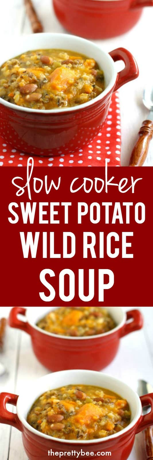 easy slow cooker sweet potato wild rice soup