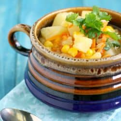 Slow cooker potato corn soup