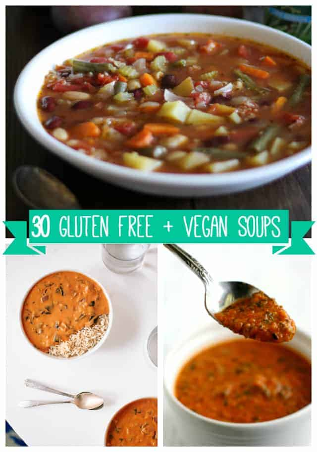 30 gluten free and vegan soup recipes. A collection of cozy and comforting soups perfect for the chilly winter months! #vegan #glutenfree