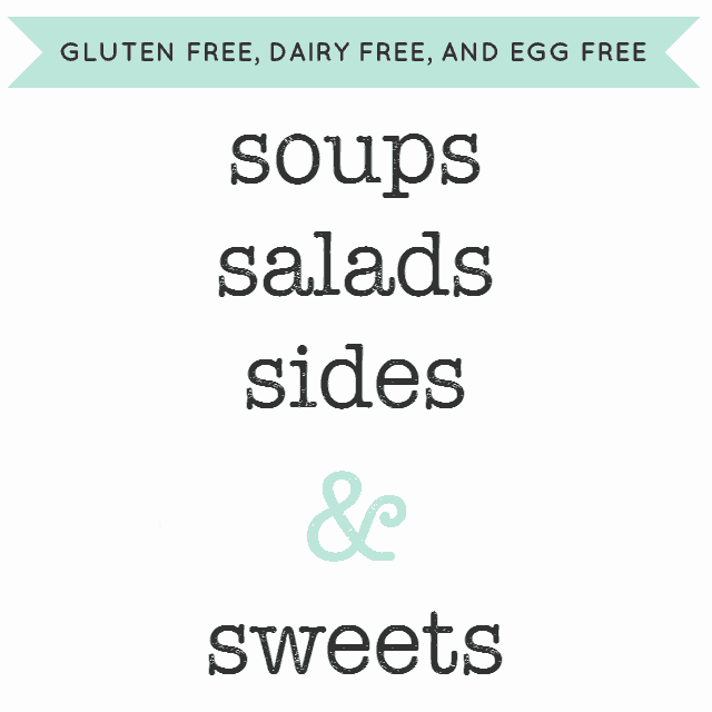 graphic for 31 day series of gluten free dairy free recipes for soups and salads
