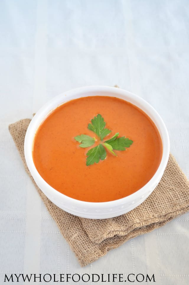 Roasted Red Pepper Soup from My Whole Food Life