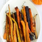 Roasted Rainbow Carrots with Thyme.