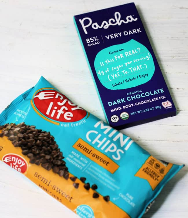 allergy friendly chocolate chips and bar