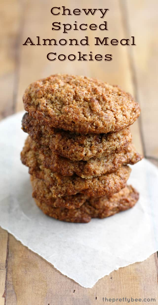 Chewy Almond Meal Cookies.
