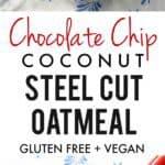 chocolate chip steel cut oatmeal recipe