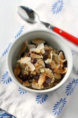coconut steel cut oatmeal