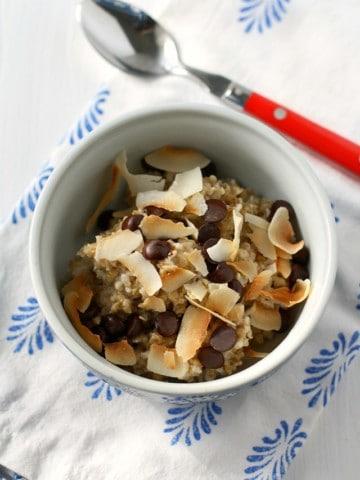 coconut steel cut oatmeal