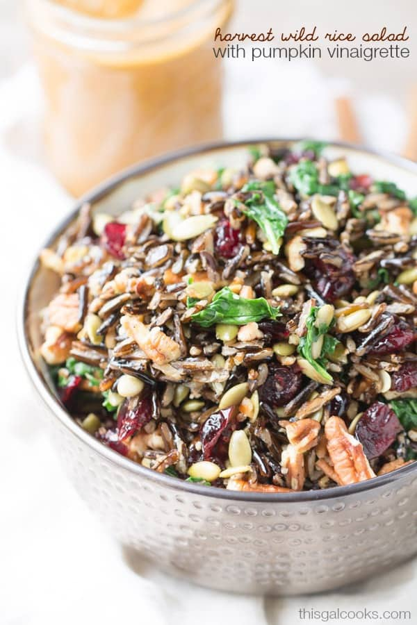 Harvest wild rice salad from This Gal Cooks