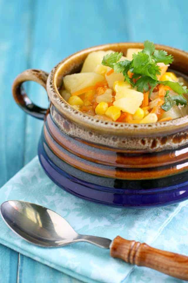 crockpot corn potato soup