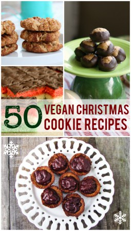 50 delicious vegan Christmas cookie recipes. #vegan #cookies