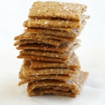 These homemade crackers are so addicting! Salty, crispy, crunchy goodness.
