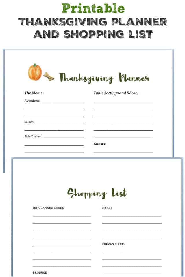 image regarding Thanksgiving Menu Planner Printable named Printable Thanksgiving Planner and Browsing Record. - The