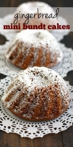 Delicious individual desserts that are packed with spicy gingerbread flavor! These are a special treat that is just right for the holiday season! Vegan recipe.