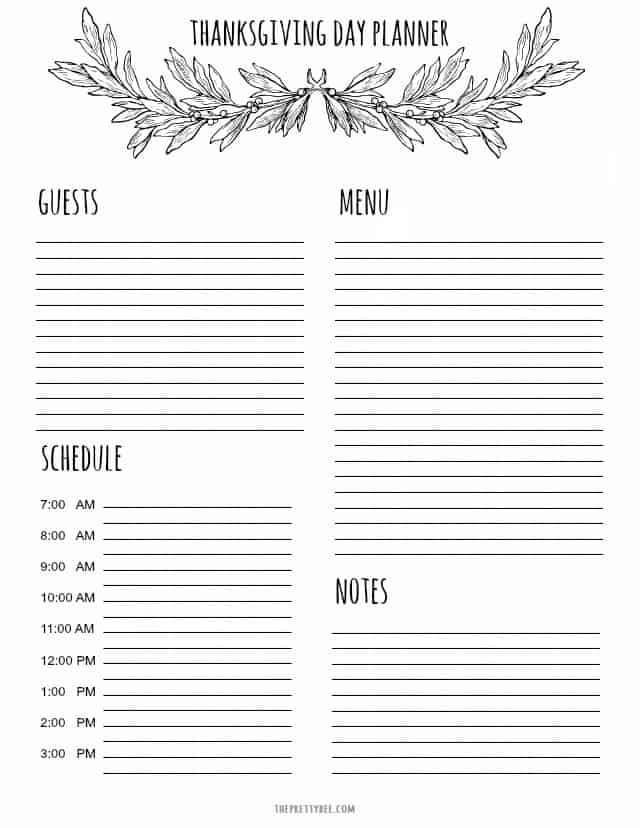 photo regarding Thanksgiving Planner Printable named Printable Thanksgiving Planner and Searching Listing. - The