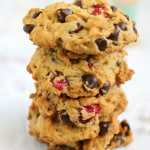 Vegan and gluten free chocolate chip cranberry cookies are a delicious holiday treat!