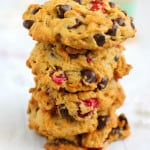 Cranberry Chocolate Chip Cookies with Walnuts.