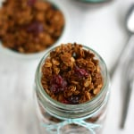 A delicious and healthy gingerbread spice granola recipe. #sponsored