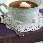 Delicious and rich hot chocolate made with full fat coconut milk and dark chocolate. #vegan