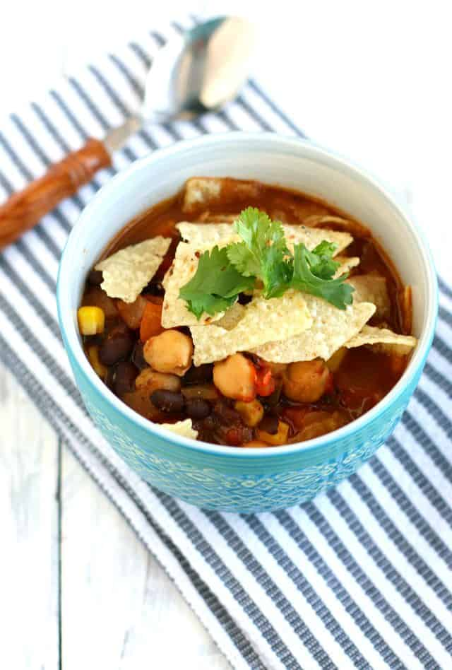 An easy recipe for tortilla soup. This healthy soup is quick and tasty!