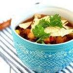 Simple Bean Tortilla Soup.