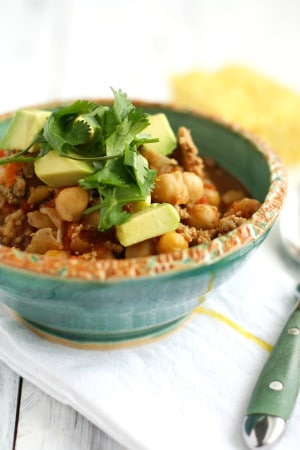 5 ingredient turkey chili is quick and easy to make! A healthy meal for the whole family.