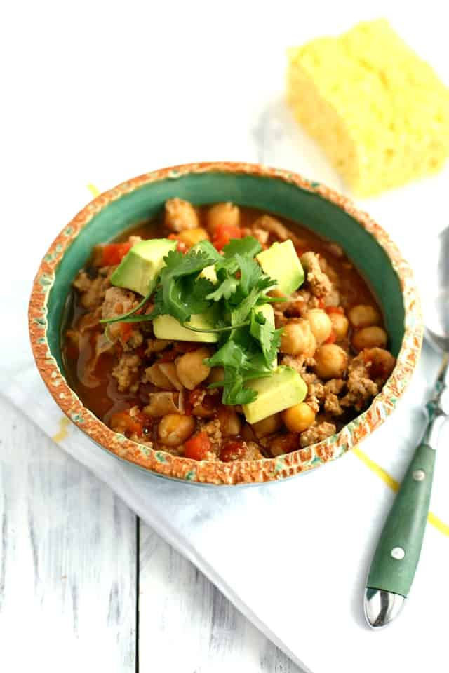 five ingredient turkey chili