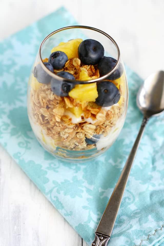simple fruit and yogurt parfait