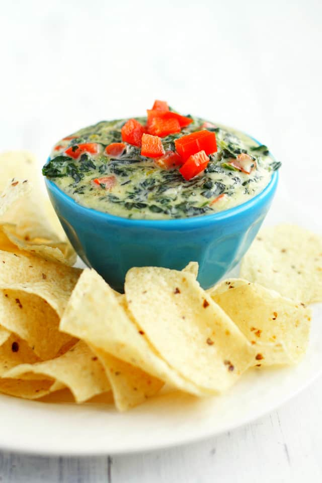 creamy dairy free spinach dip