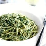 Vegan creamy kale sauce pasta - easy and comforting! #vegan #gf #glutenfree