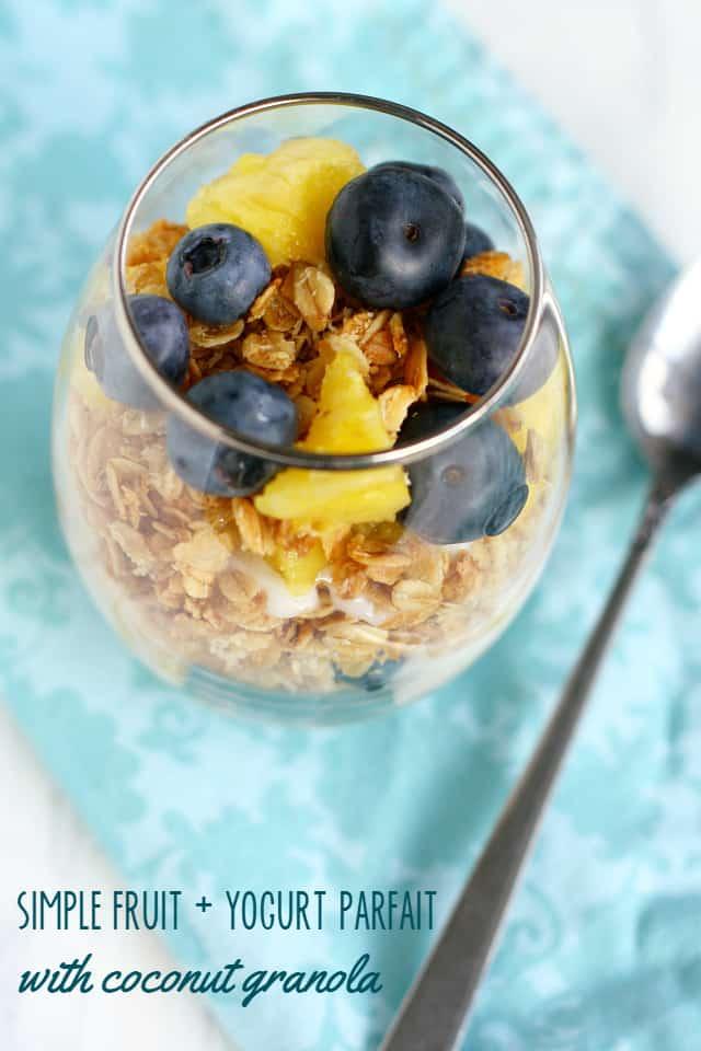 Fruit, yogurt, and granola make an easy and healthy breakfast! #dairyfree