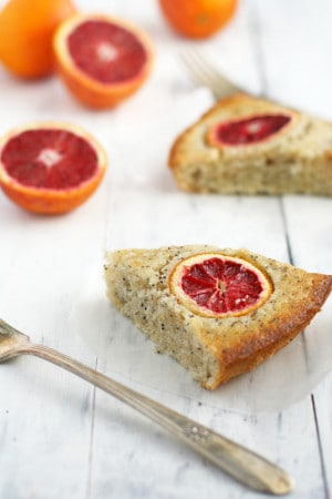 Blood orange poppy seed cake is a beautiful citrus dessert!