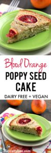 blood orange poppy seed vegan cake