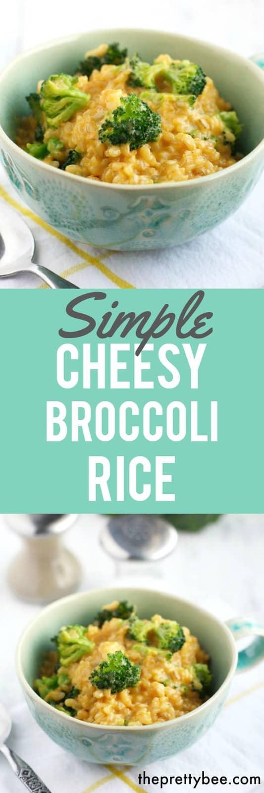 cheesy broccoli rice recipe
