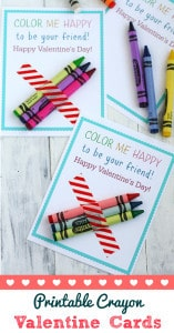 These cute Color Me Happy valentines are so easy to make and so fun! Find the free printable on theprettybee.com #printable