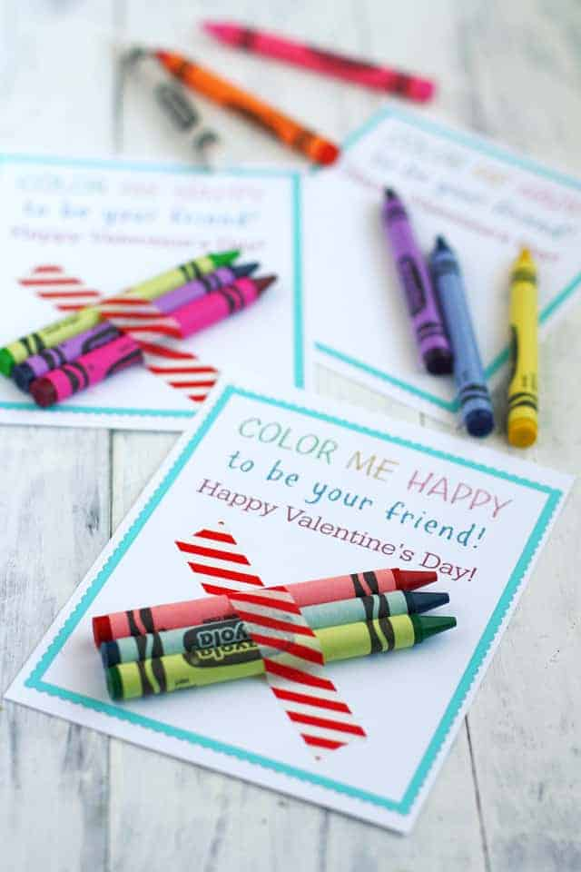 graphic regarding Printable Valentines Cards for Kids known as Shade Me Content Printable Young children Crayon Valentines. - The