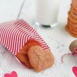 Vegan Valentine Heart Spritz Cookies.