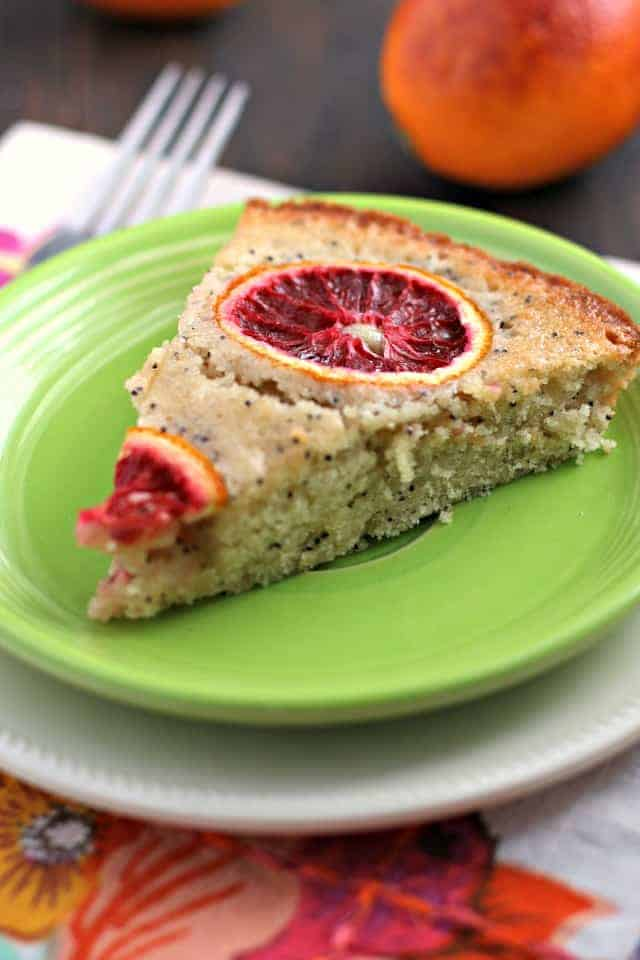 vegan blood orange poppy seed cake