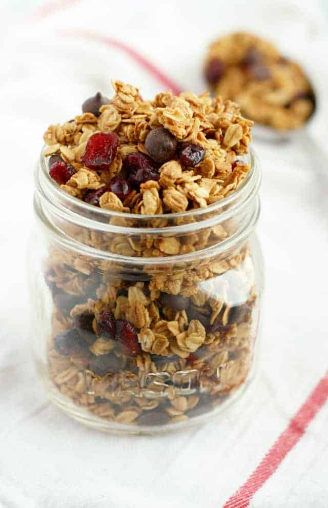 chocolate chip cranberry granola