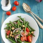 Light, fresh, and healthy garlic dill green bean salad. #vegan #glutenfree