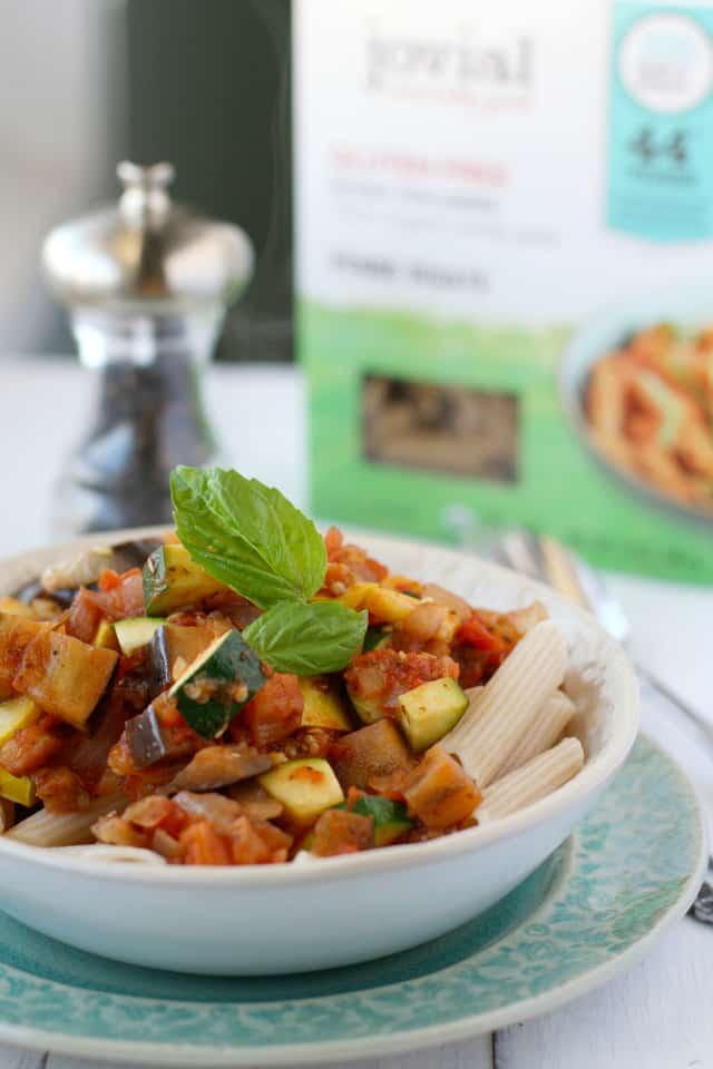 gluten free ratatouille pasta recipe