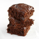 Delicious chocolate gingerbread bars. So rich and chocolatey!
