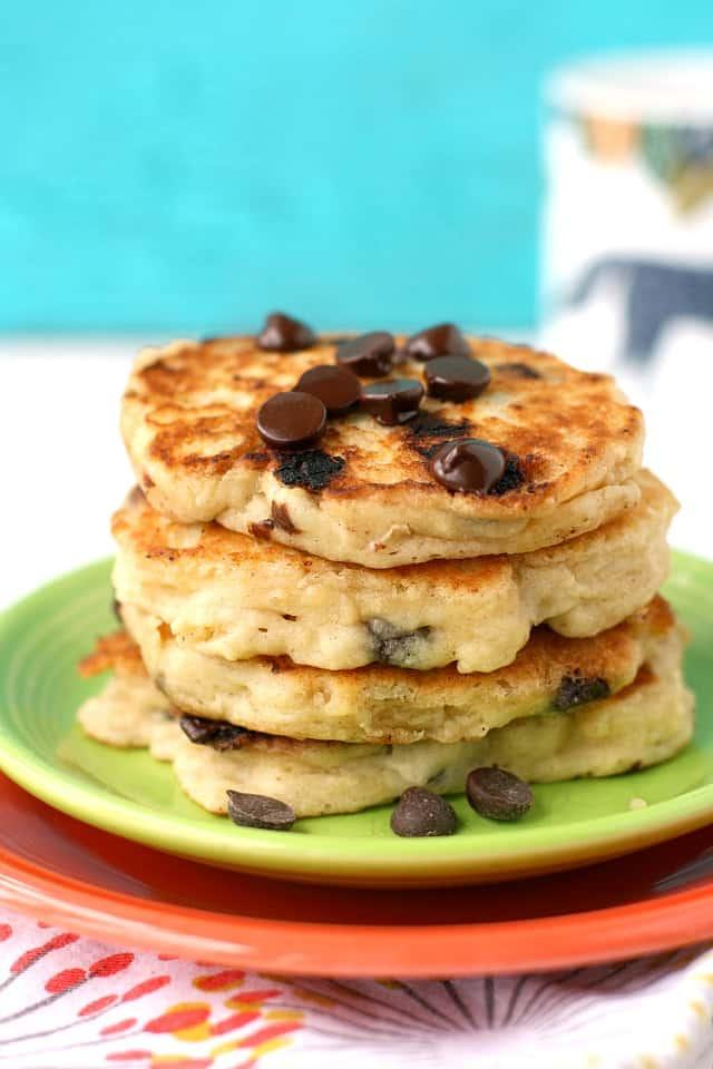 stack of vegan oatmeal pancakes